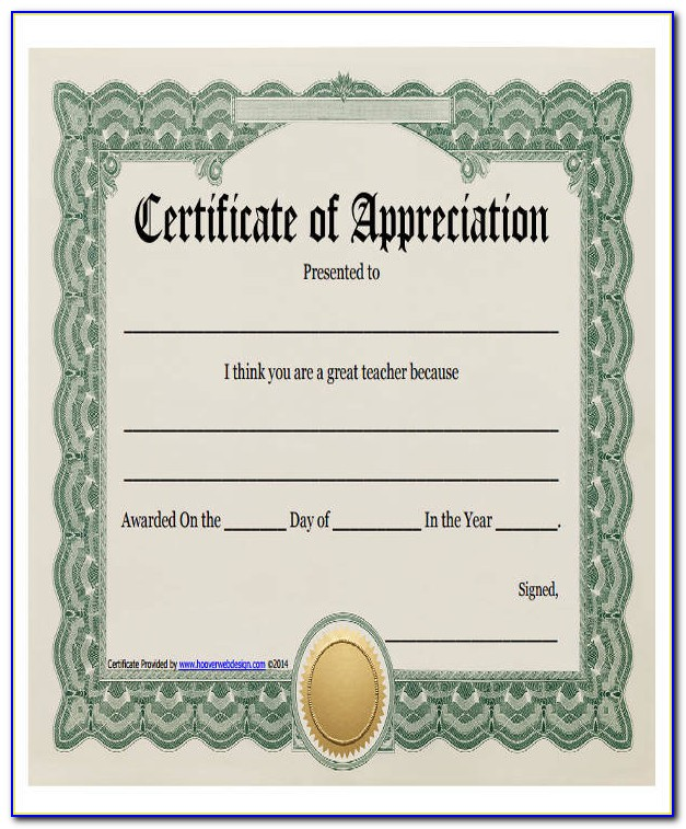 Template Certificate Of Completion Free