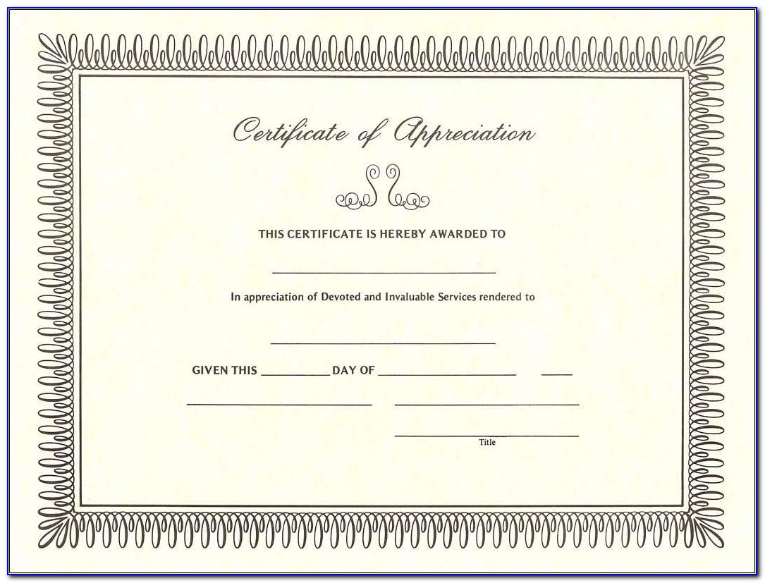 Template Certificate Of Completion Word
