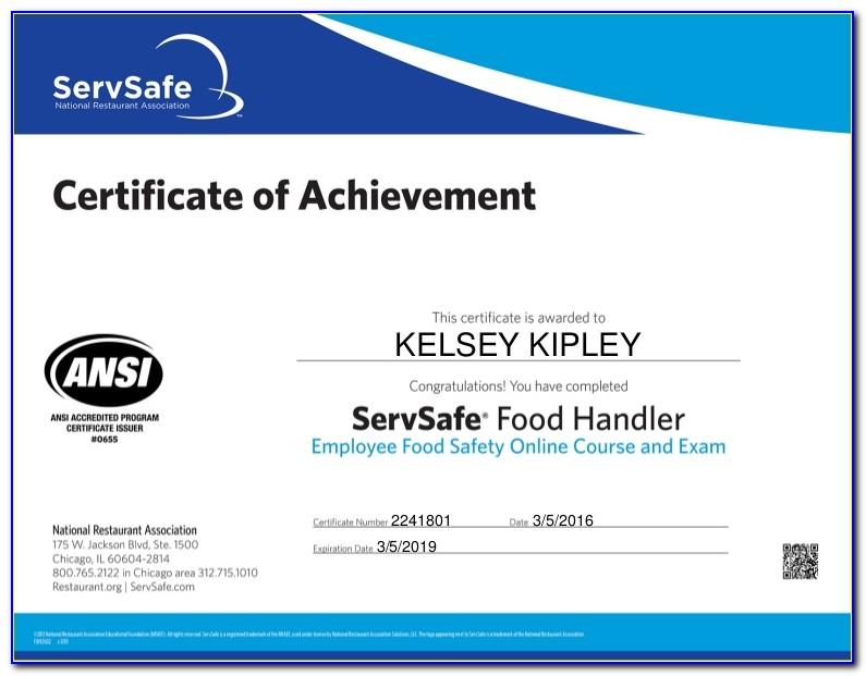 Texas Food Handlers Certification Lookup