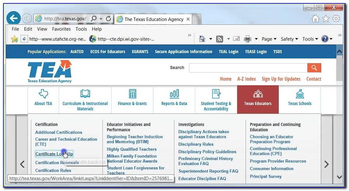 Texas Tea Teacher Certification Lookup