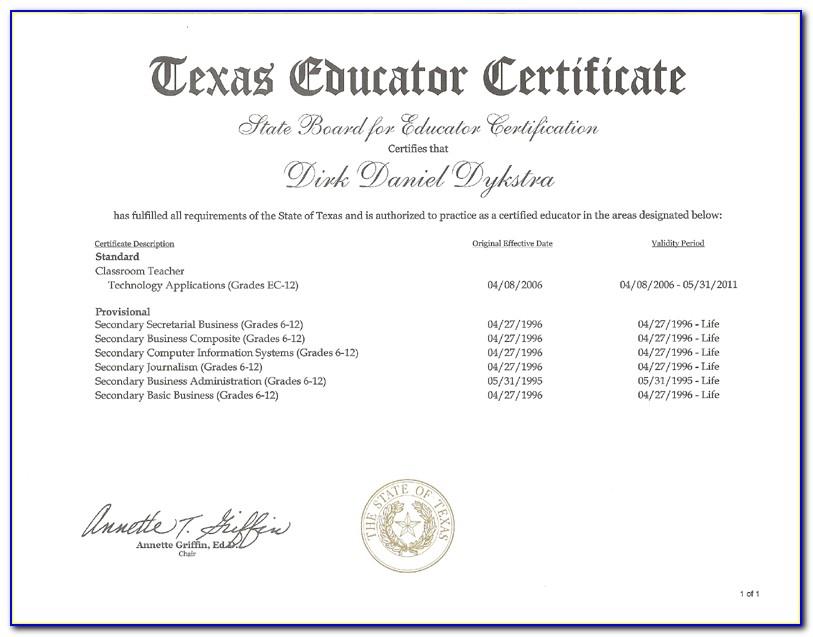 Texas Teacher Certification Check