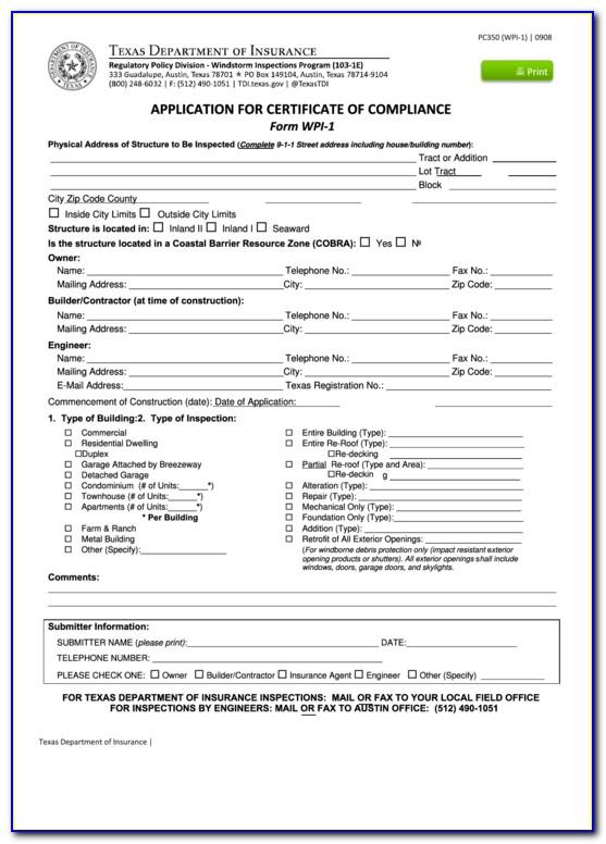 Texas Windstorm Certificate Search