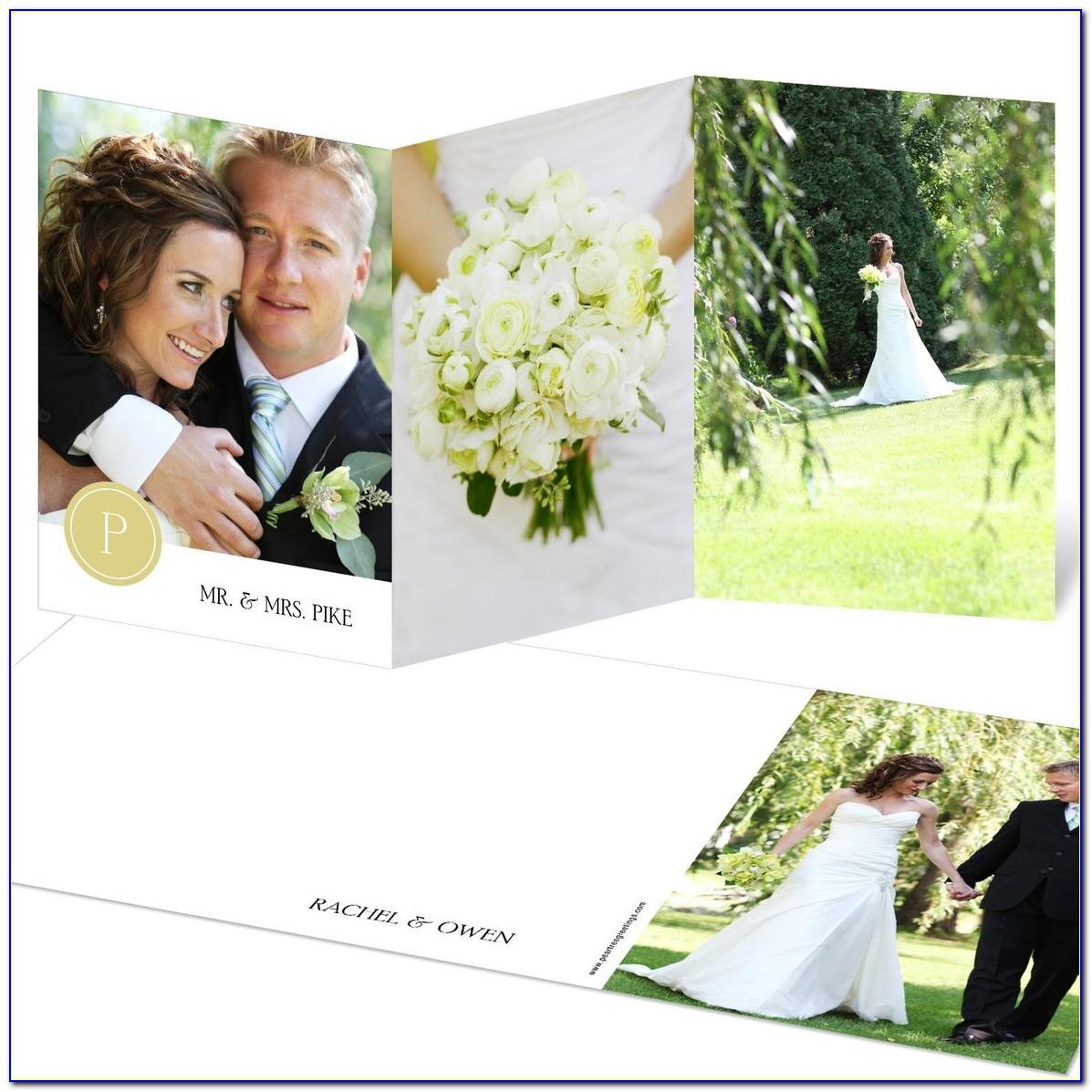 Tri Fold Wedding Thank You Cards