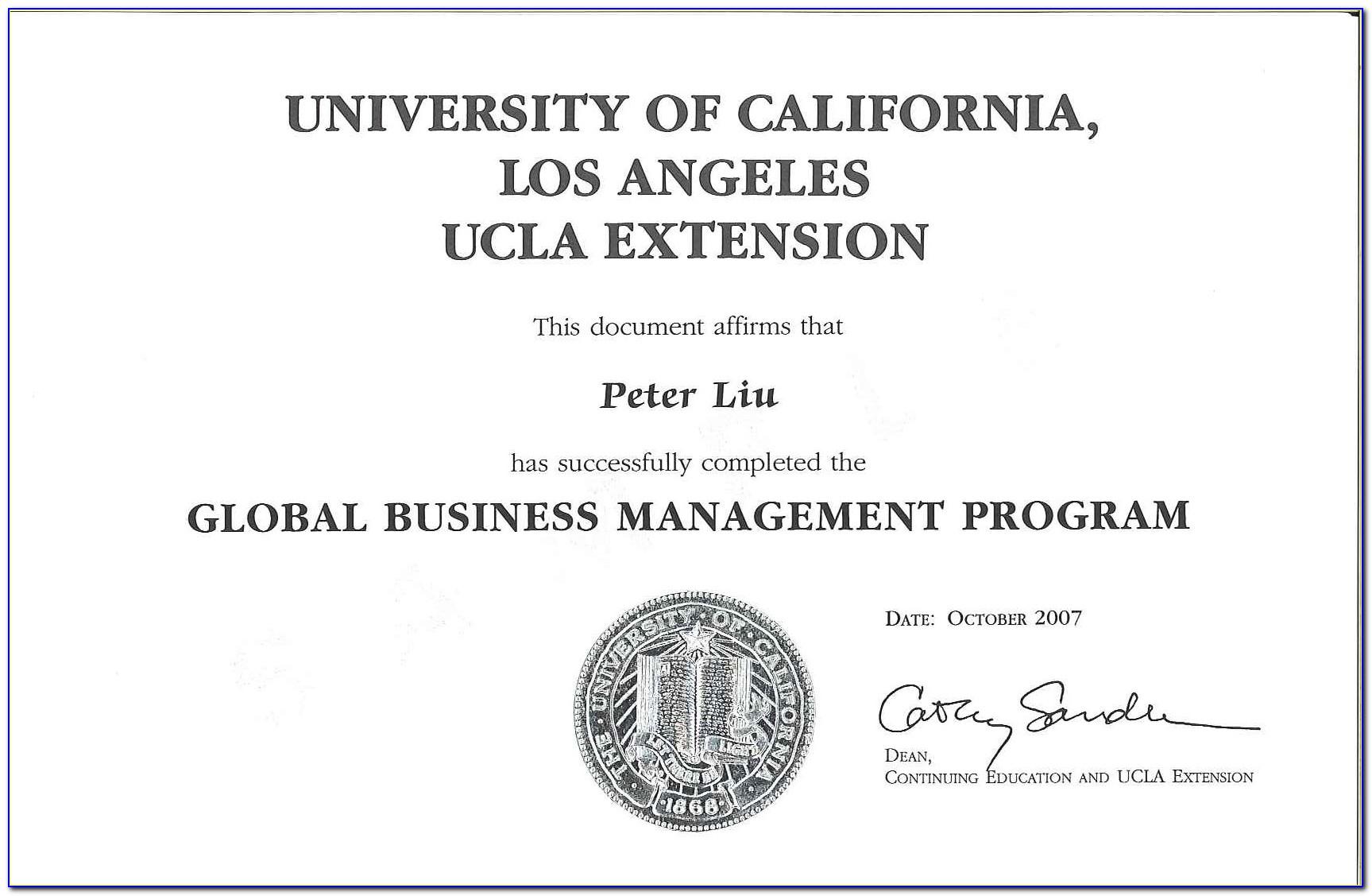 Ucla Certificate Programs For International Students