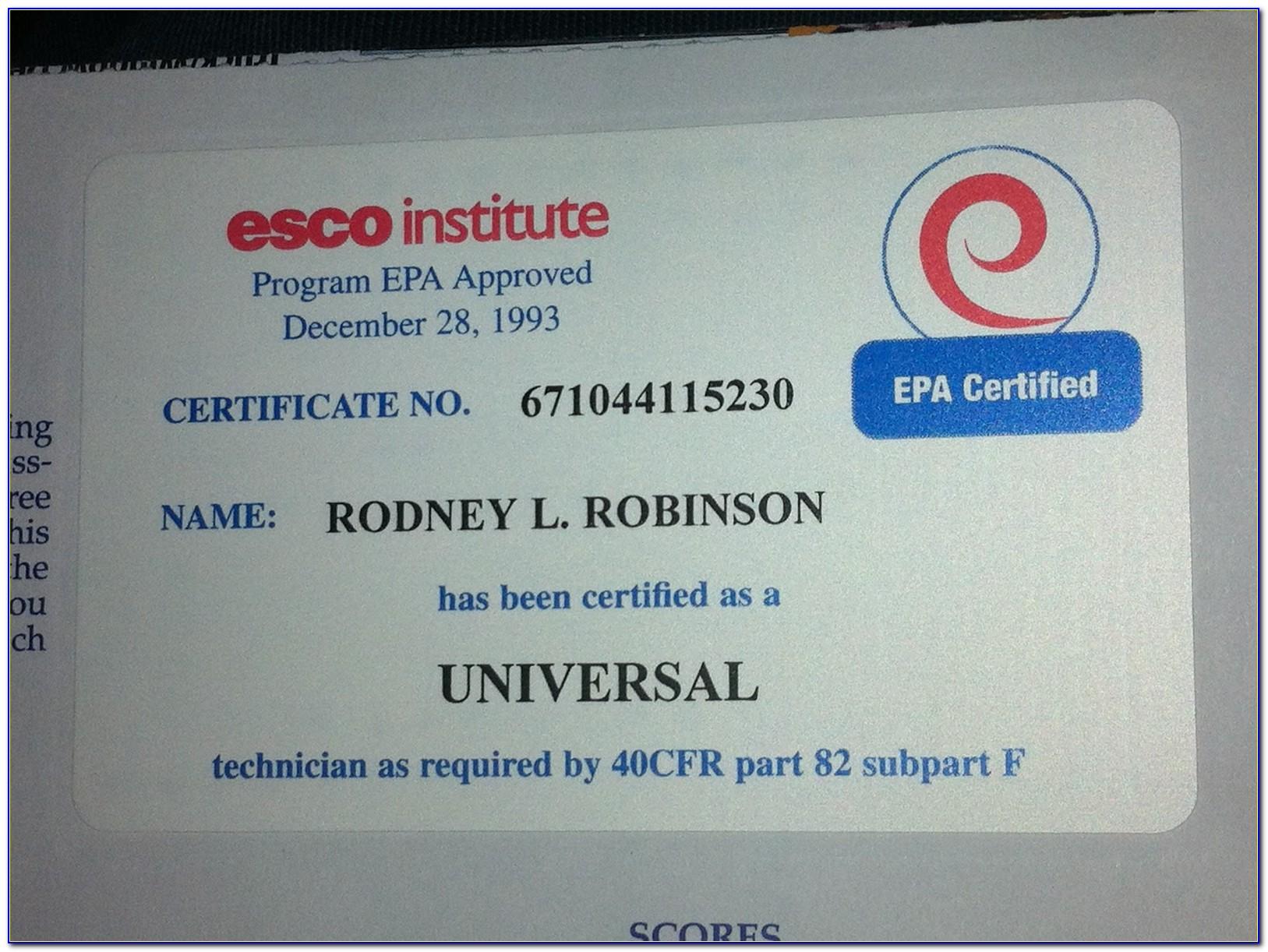 Universal Cfc Certification Texas