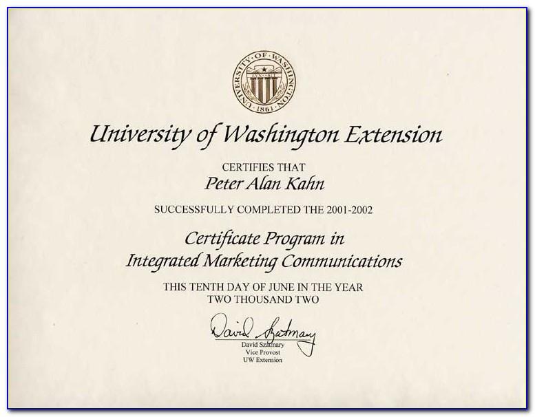 University Of Washington Certificate Programs Online