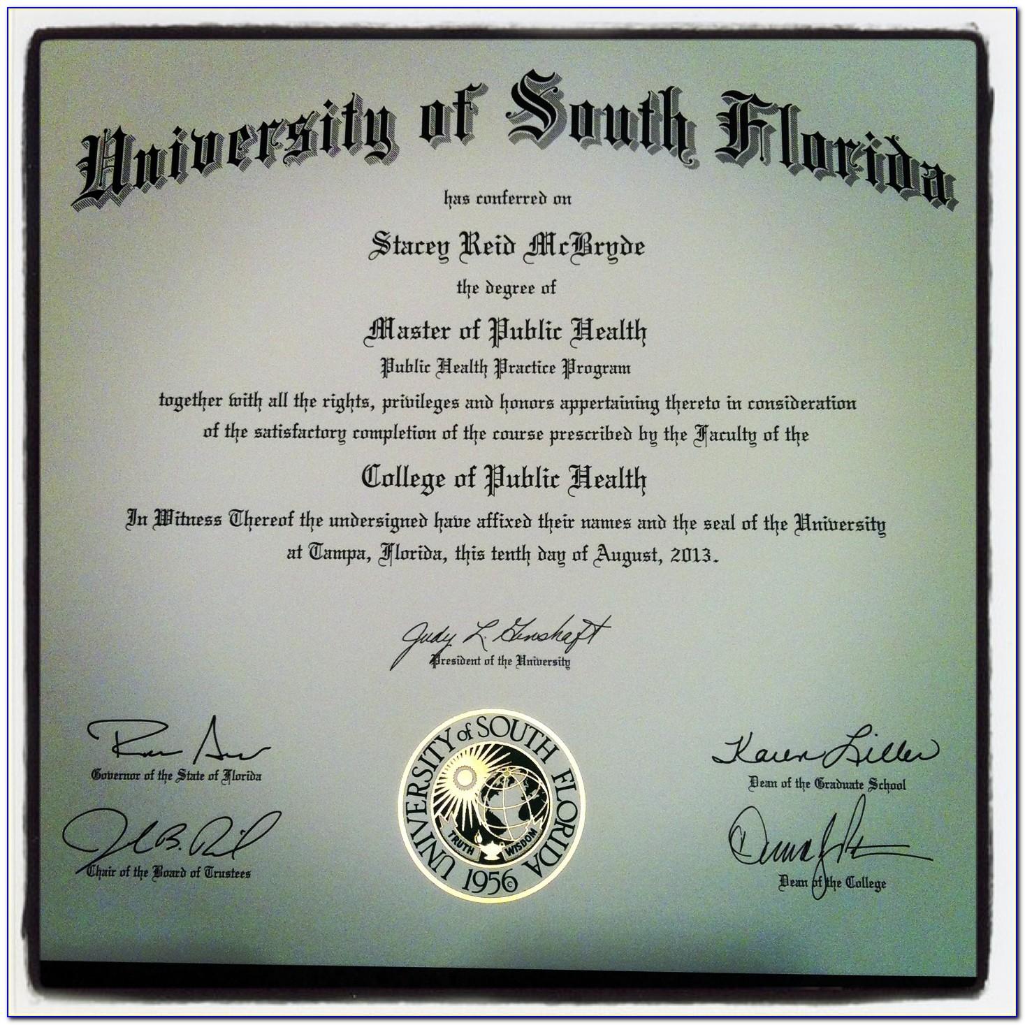 Usf Graduate Certificates Public Health