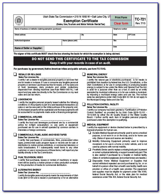 Utah Resale Certificate Lookup