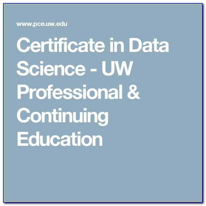 Uw Data Science Certificate Review