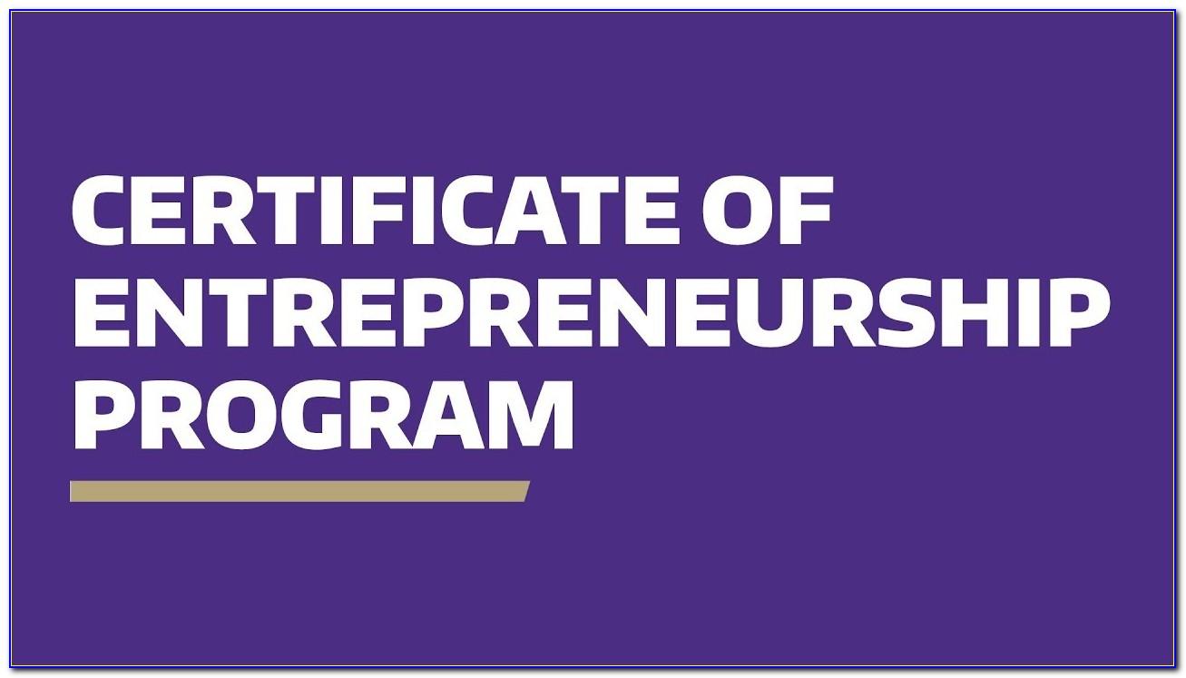 Uw Madison Certificate In Entrepreneurship