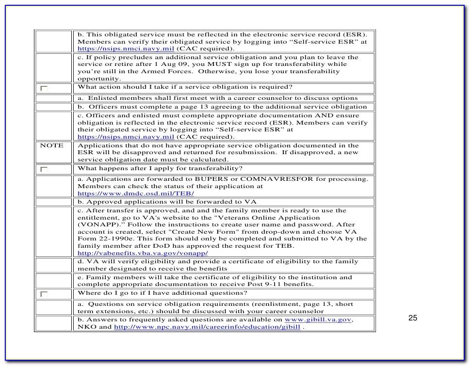 Va Certificate Of Eligibility Post 911 Gi Bill