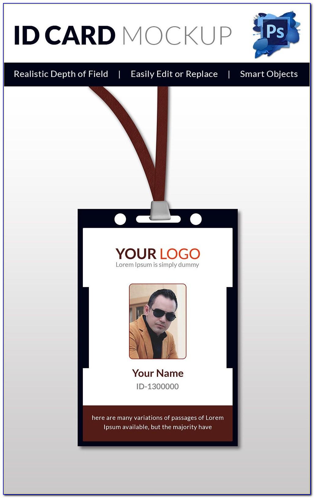 Vector Blank Id Card Template