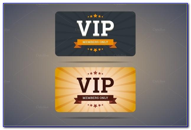 Vip Access Card Template