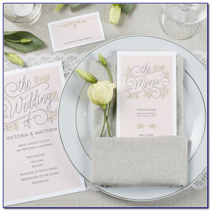 Vistaprint Wedding Place Cards Folded