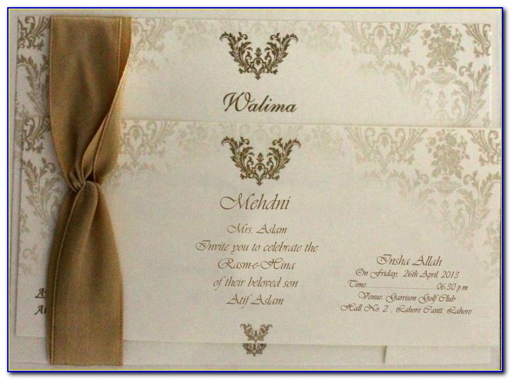 Walima Wedding Card Template