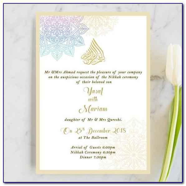 Walima Wedding Cards