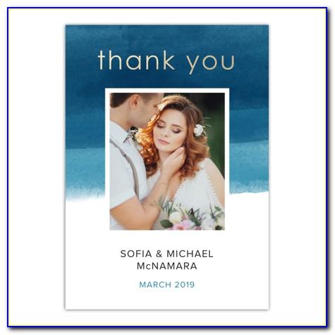 Walmart Wedding Thank You Photo Cards
