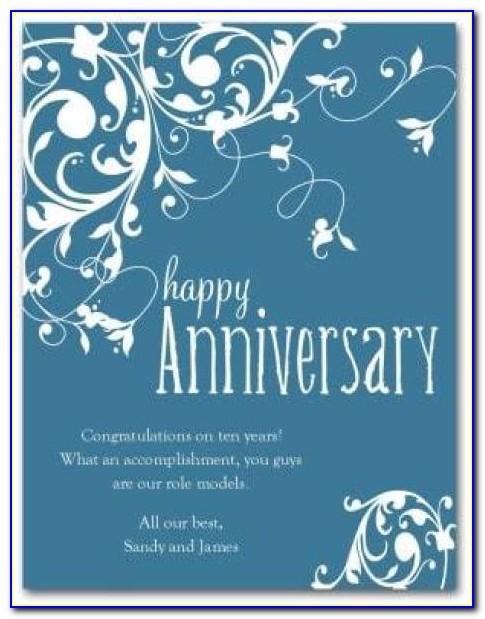 Wedding Anniversary Card Template Illustrator