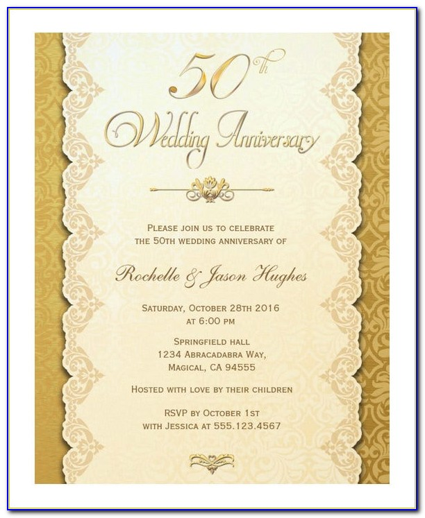 Wedding Anniversary Card Template Publisher