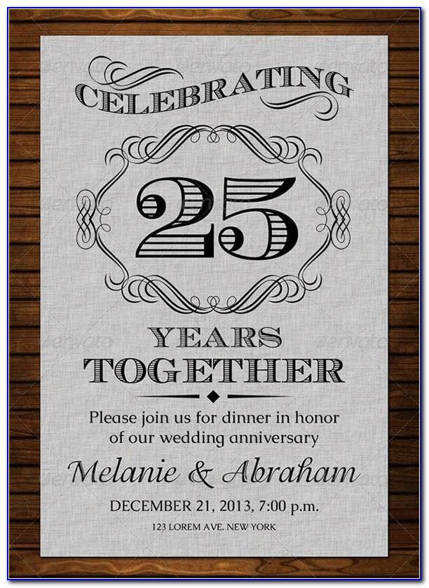 Wedding Anniversary Card Template Word