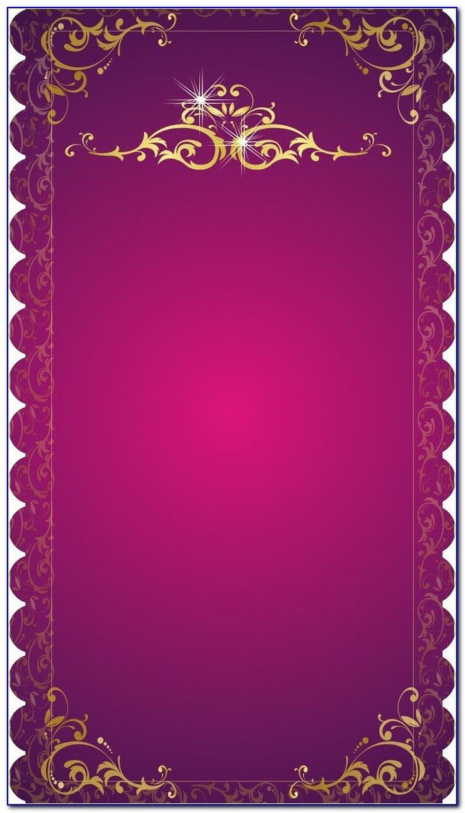 Wedding Card Border Design Clipart