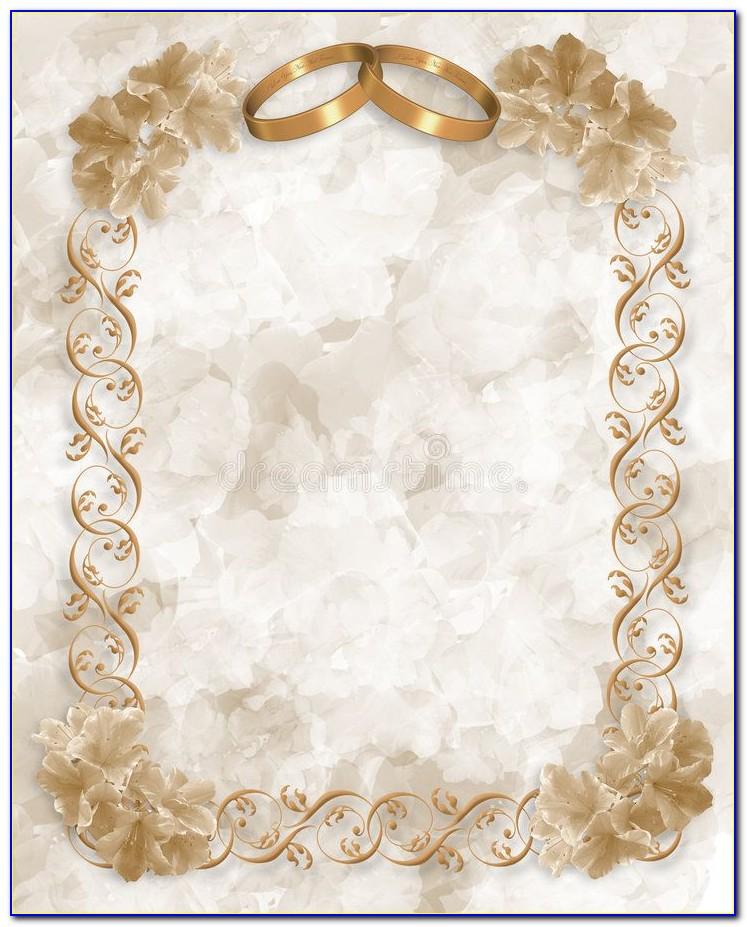 Wedding Card Border Design Free Download