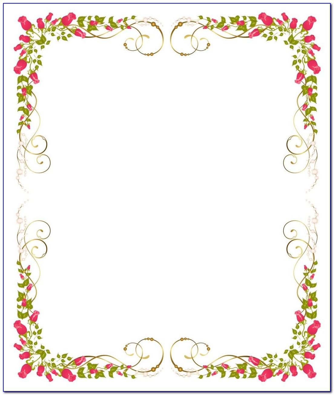 Wedding Card Border Design Vector