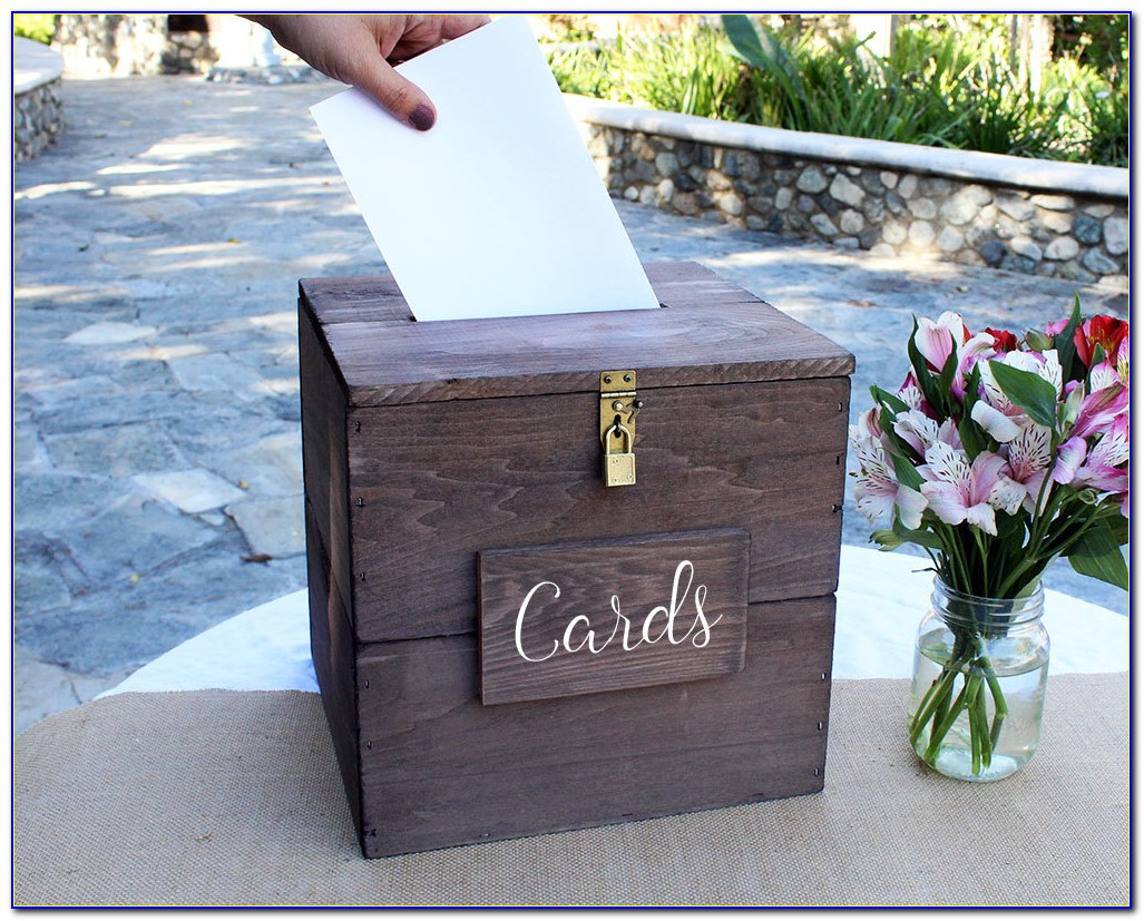 Wedding Card Box With Lock And Slot