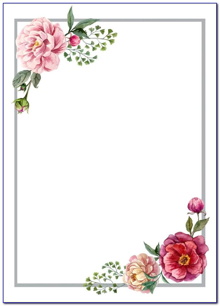 Wedding Card Floral Borders