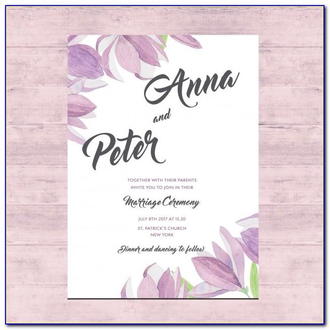 Wedding Card Floral Designs Vector Free Download
