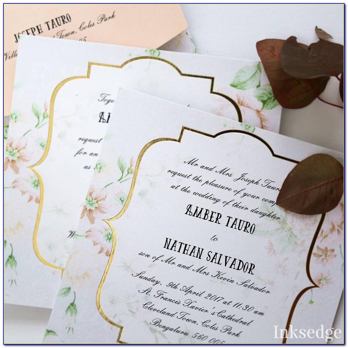 Wedding Card Matter In English For Daughter Hindu