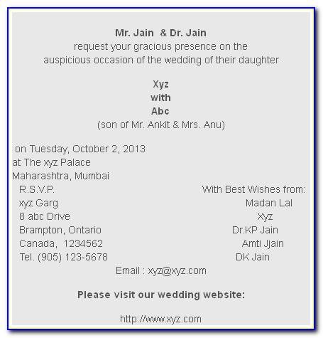 Wedding Card Matter In English Muslim