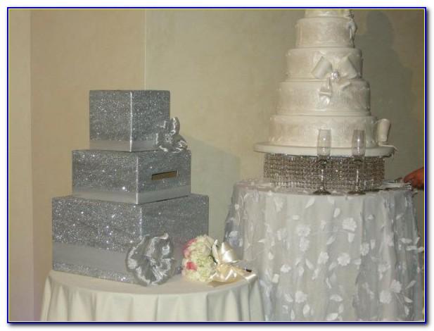 Wedding Card Post Box Silver