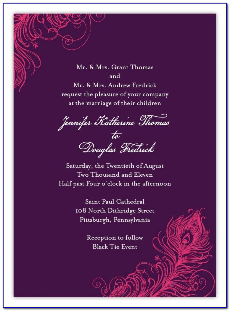 Wedding Card Wording In English In Indian Style For Daughter