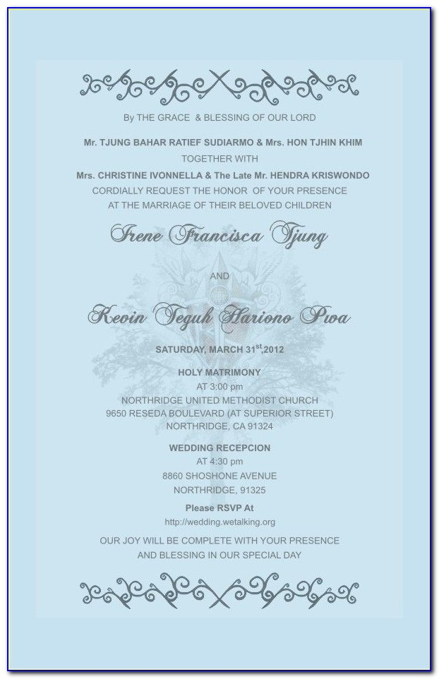 Wedding Card Wording In English In Indian Style Pdf