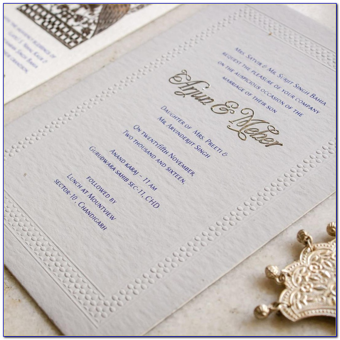 Wedding Card Wording In Hindi In Indian Style