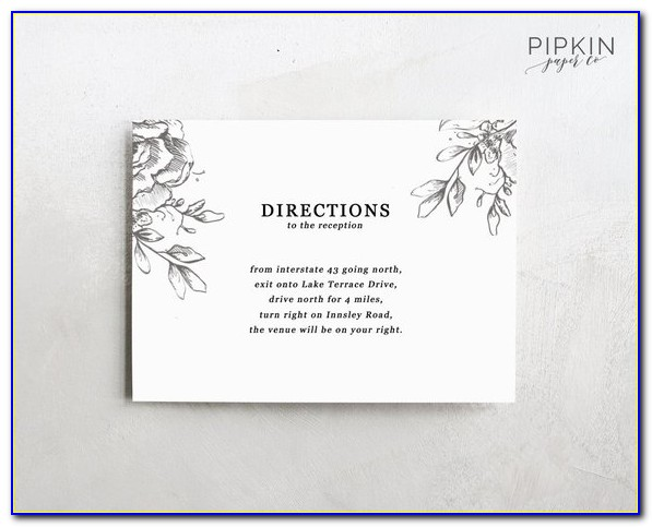 Wedding Direction Card Template Free