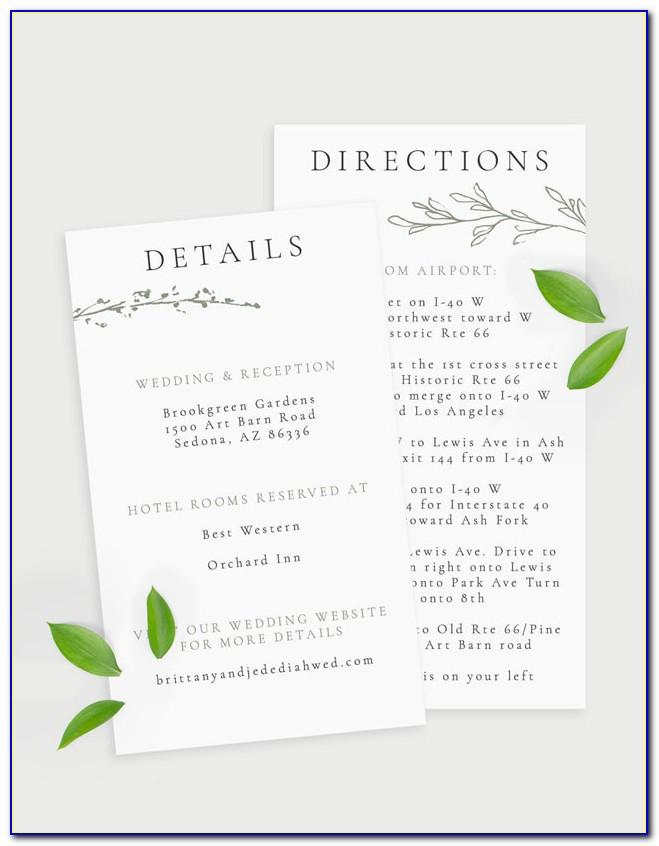 Wedding Enclosure Cards Wording