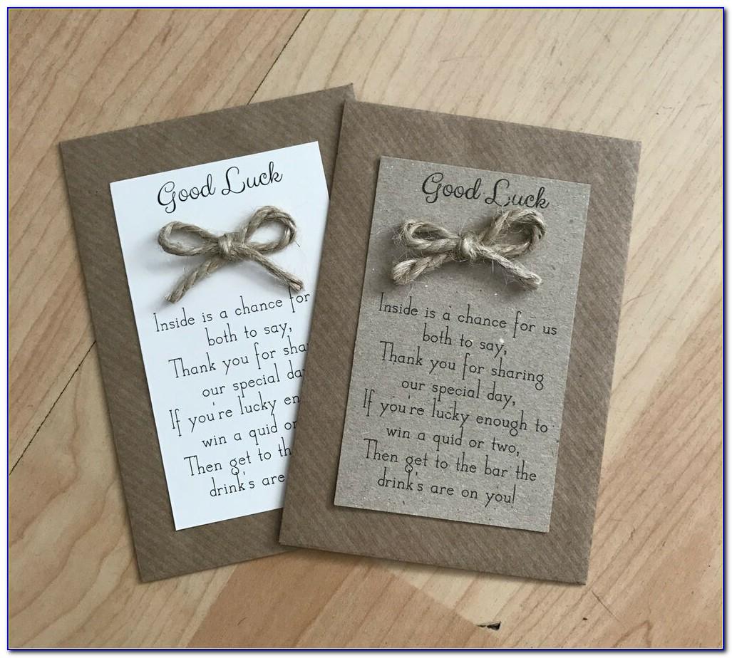 Wedding Favour Scratch Card Holders