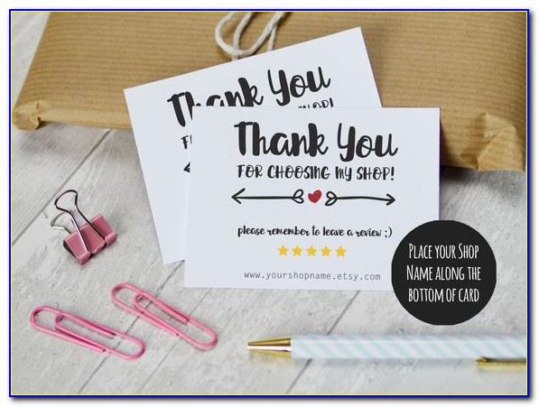 Wedding Gift Thank You Cards Etsy
