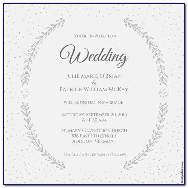 Wedding Invitation Card Template For Whatsapp