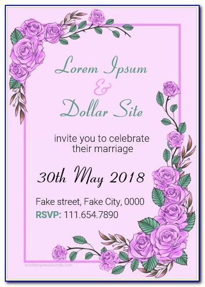 Wedding Invitation Card Template Online