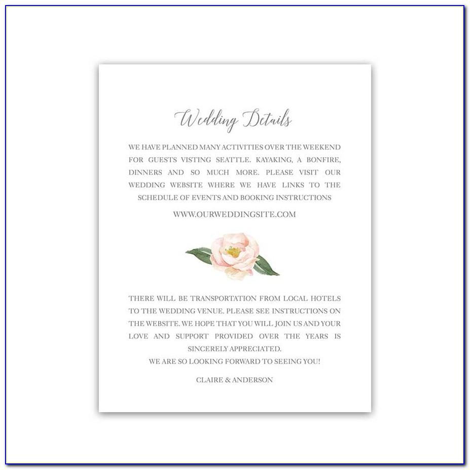 Wedding Invitation Enclosure Cards Etiquette