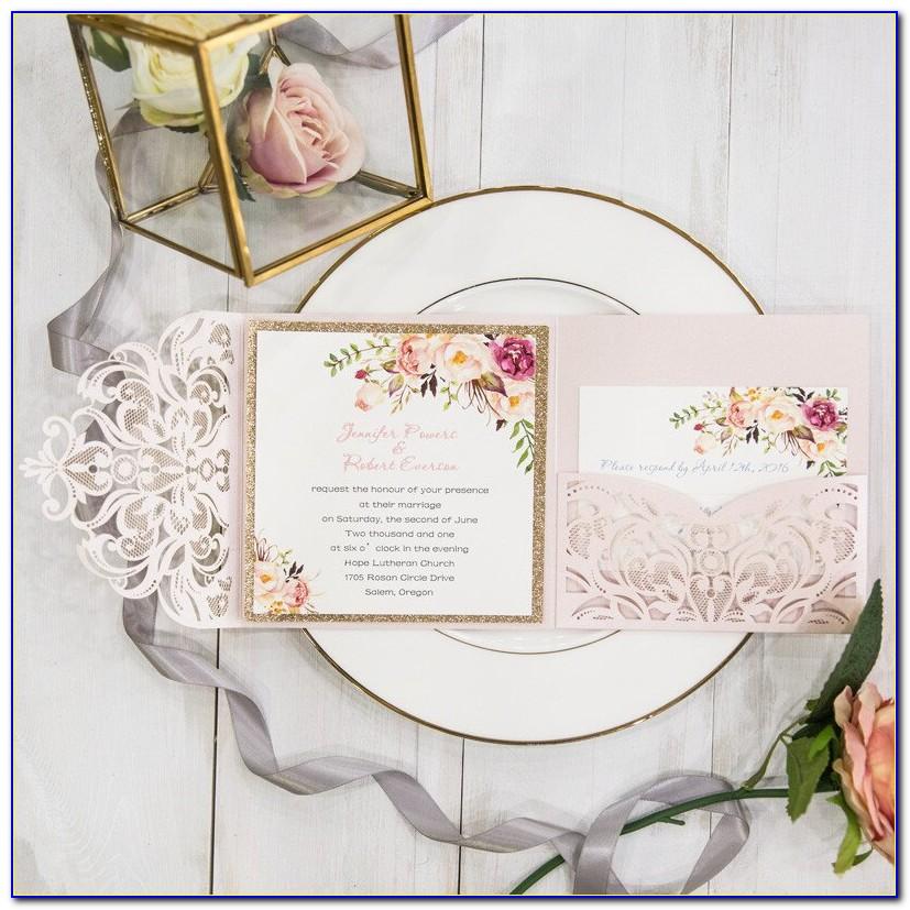 Wedding Invitation Kits With Response Cards