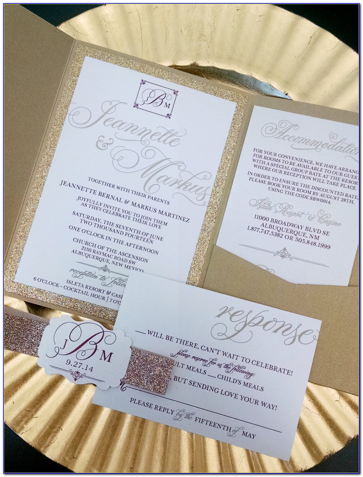 Wedding Invitations And Rsvp Card Packages
