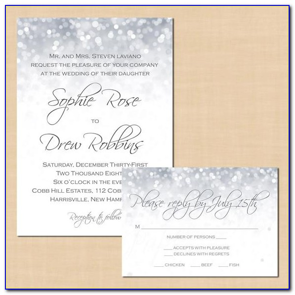 Wedding Invitations With Rsvp Cards And Envelopes