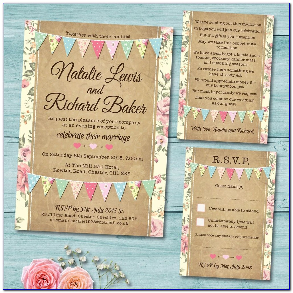 Wedding Invitations With Rsvp Cards Cheap