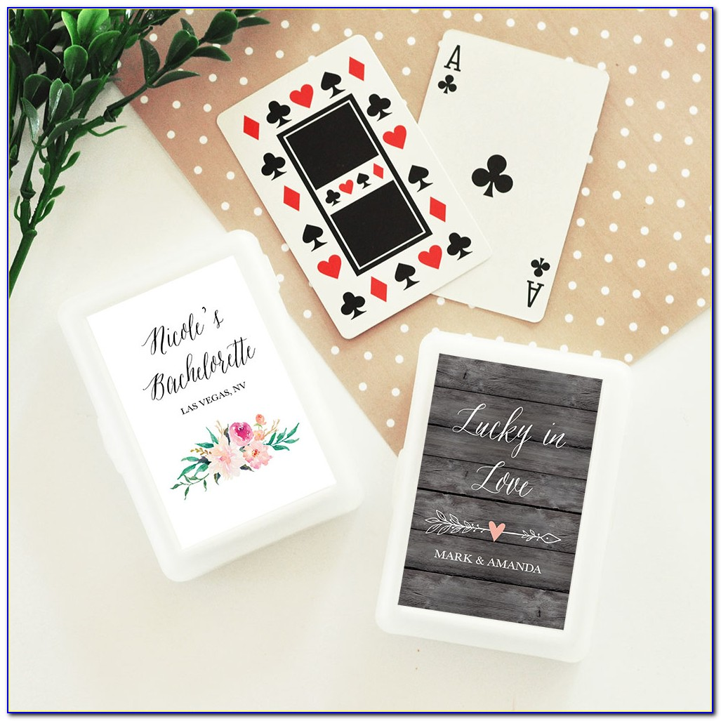Wedding Personalized Playing Cards Canada