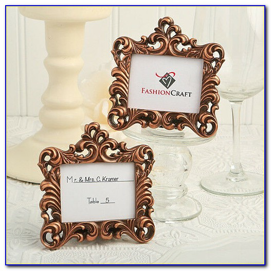 Wedding Place Card Holders Rose Gold