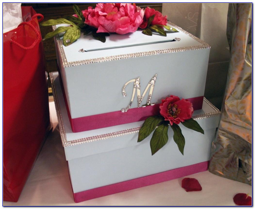 Wedding Reception Card Box With Lock